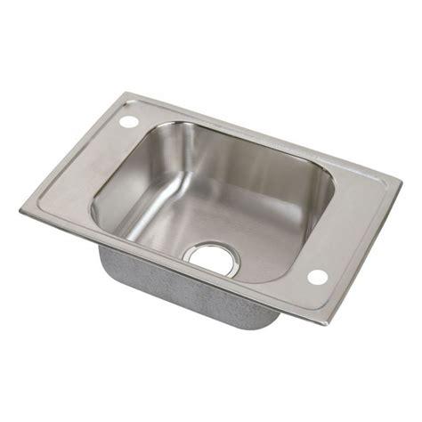 single bowl kitchen sink top mount elkay cdkr2517 stainless steel single bowl top