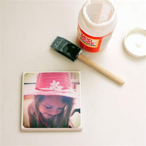 photo gifts diy tile photo coasters popsugar smart living