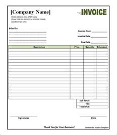free invoice template pdf 11 commercial invoice templates free documents