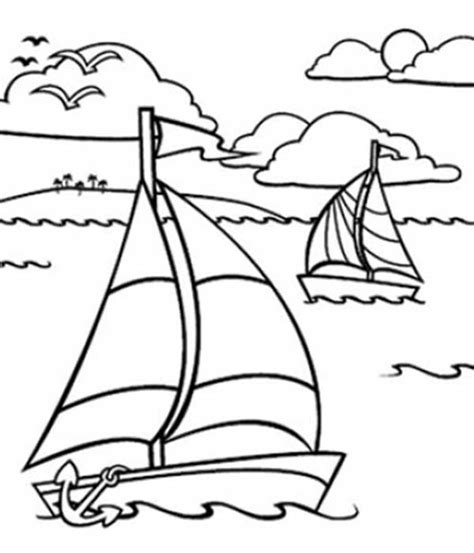 Free Coloring Pages Of Sailing Boat The Sea Coloring Pages