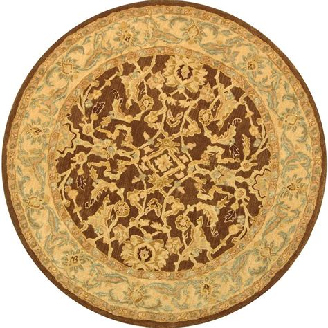 Safavieh Anatolia Brown Tan 8 Ft X 8 Ft Round Area Rug Rounds Rugs
