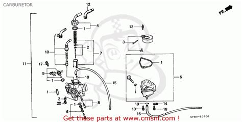 honda qr50 1983 d european direct sales carburetor