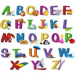 coloured alphabet design vector premium
