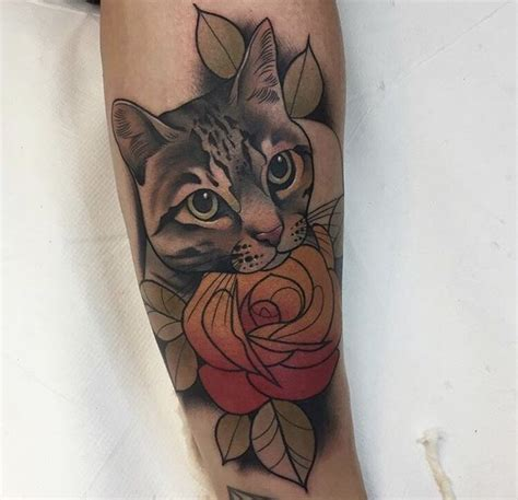 cat tattoo neo 61 best neo trad cats images on pinterest animal tattoos