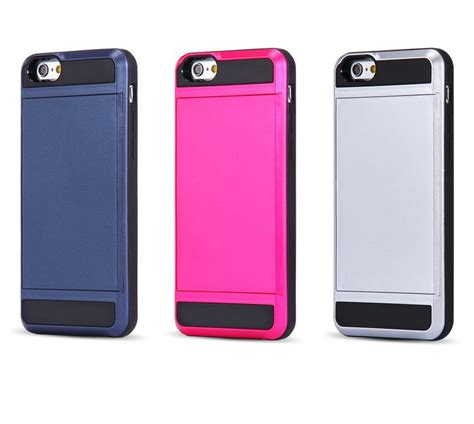Iphone 6 Plus Soft Ultrathin Leather Black Matte Soft Casing aliexpress buy i6 6s cool slide card holder back