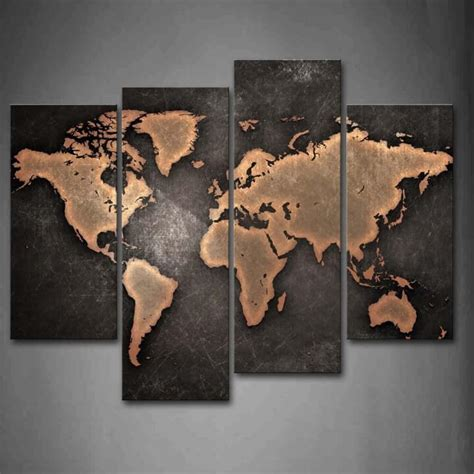 Map Of The World Stickers For Walls 37 eye catching world map posters you should hang on your