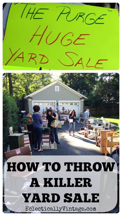 How To Throw A Backyard by How To Throw A Killer Yard Sale 15 Tips For Success