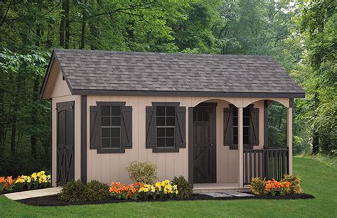 porch nook series shed amish structures md
