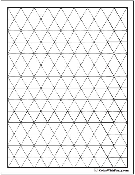 Triangle Pattern Coloring Page | blank geometric shape coloring pages triangle patterns