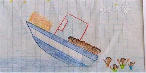 how to draw a refugee boat child draws the ledusa shipwreck business insider