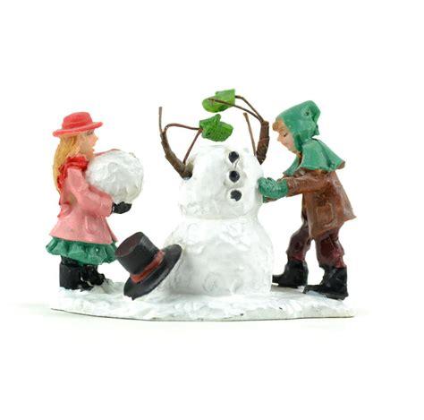 miniature build a snowman christmas figurine christmas