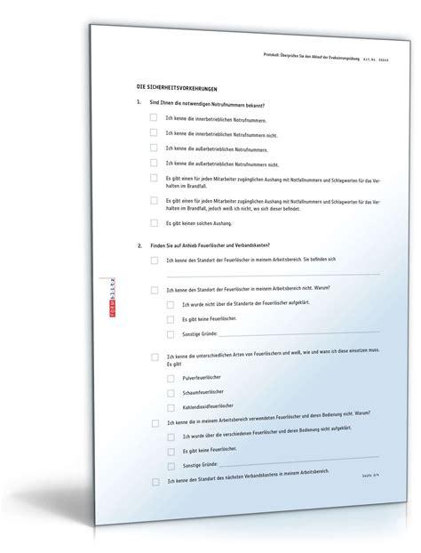 Musterbriefe Office Richtig Evakuieren Checkliste Zum