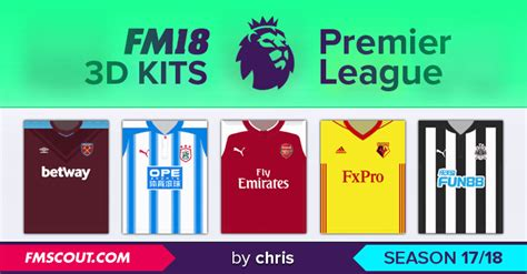 epl viewer premier league 3d kits 2017 18 kits fm18 italia che