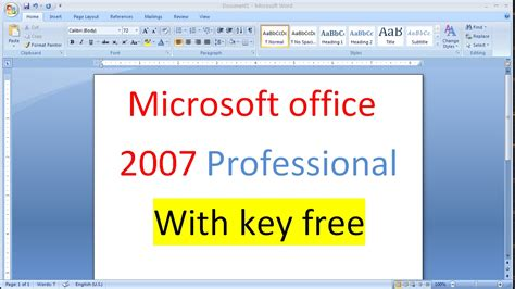 free serial number microsoft office 2007 overclock