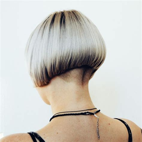 bobbed haircut with shingled npae undercut graduated bob with virtually shaved nape