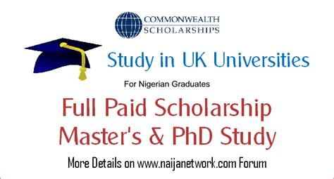 Study Mba In Uk With Scholarship by Commonwealth Scholarship For Master S And Phd Study In Uk