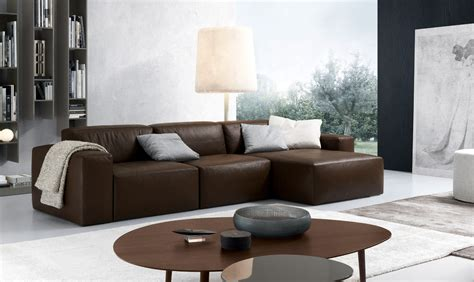 interior design sofa furniture best choice of brown leather sectional with chaise to create comfort living room