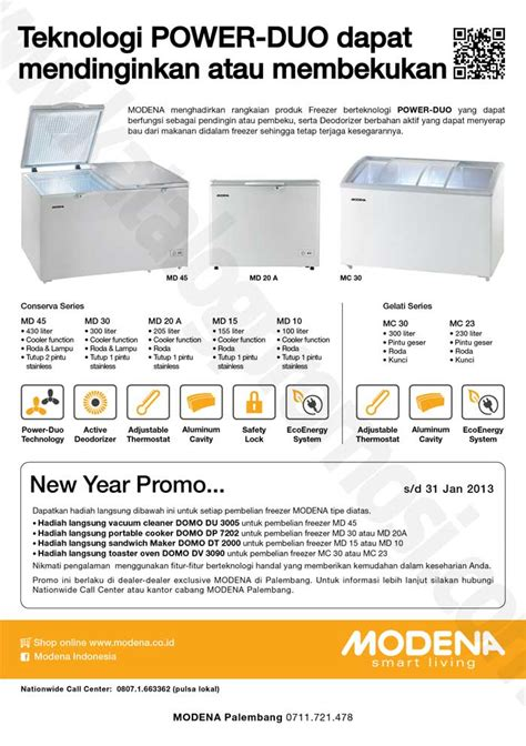 Freezer Terkini modena freezer new year promo khusus palembang