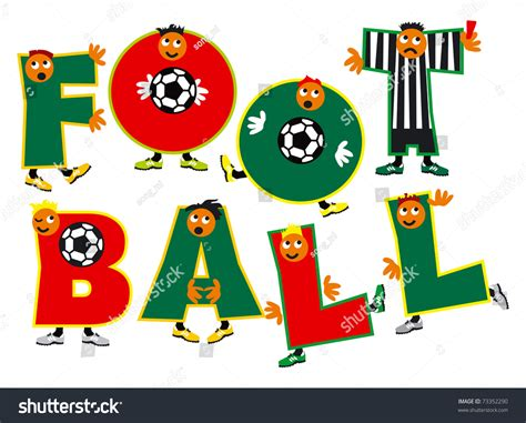 Football Team With Letter Z word football team football players amusing stock vector