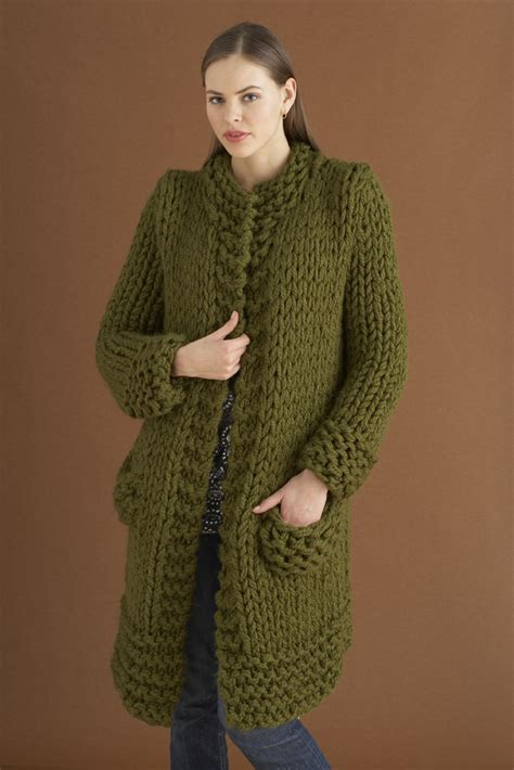 pattern for thick yarn weekender jacket in lion brand wool ease thick quick