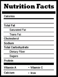 Blank Nutrition Label Template Excel Top Label Maker Nutrition Chart Template