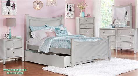 tempat tidur anak perempuan model sorong tempat tidur anak pujieart furniture jepara
