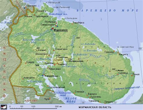 maps murmansk russia map of murmansk oblast maps of russia regions