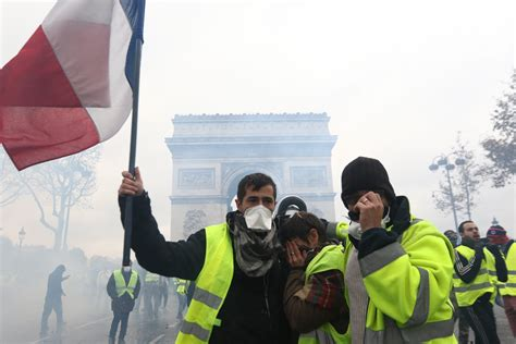 emmanuel macron yellow vests the yellow vests expose macron s fragile hold on france time