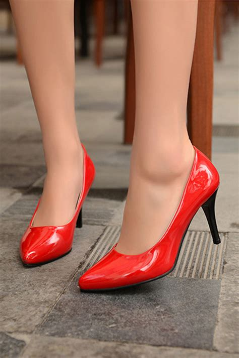 Heels Ret Hak Kotak 363 womens shoes high heels solid stiletto lazada