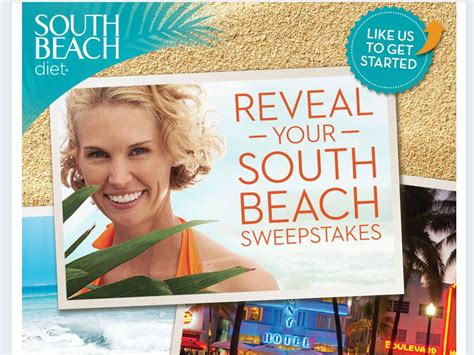 Beach Sweepstakes - reveal your south beach sweepstakes