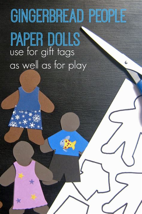 How To Make A Gingerbread Out Of Paper - diy on a dime gingerbread paper dolls