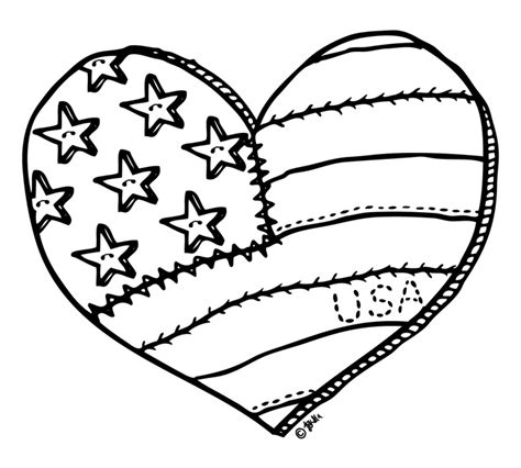 patriotic heart coloring page flower bouquet shaped heart coloring page american flag