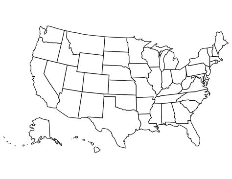 clipart of united states map outline usa bw page geography country maps u united states usa