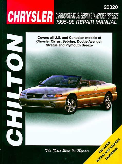 automotive service manuals 1995 chrysler sebring parental controls chrysler sebring dodge stratus 1995 1998