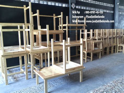 Kursi Jati Belanda produk kursi dan meja bahan kayu jati belanda jual jati
