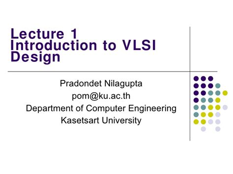 layout design vlsi ppt introduction to vlsi