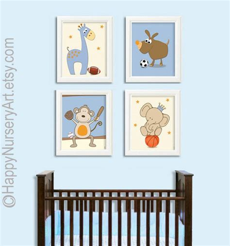 Football Nursery Decor Wall Print Nursery Decor Boy Jungle Animals Sports Basketball Baseball Football Nursery