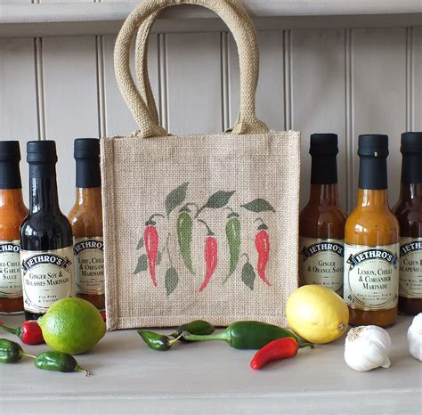 News Bags Baubles And Bottles Wine And Bags Extravaganza by 6 Sauces In A Painted Jute Gift Bag Jethro S