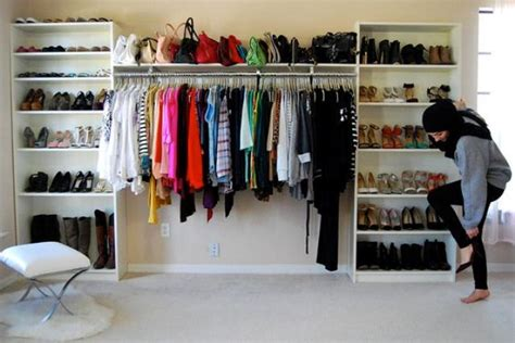 open clothes storage system diy 27 space saving closet wall storage ideas to try shelterness