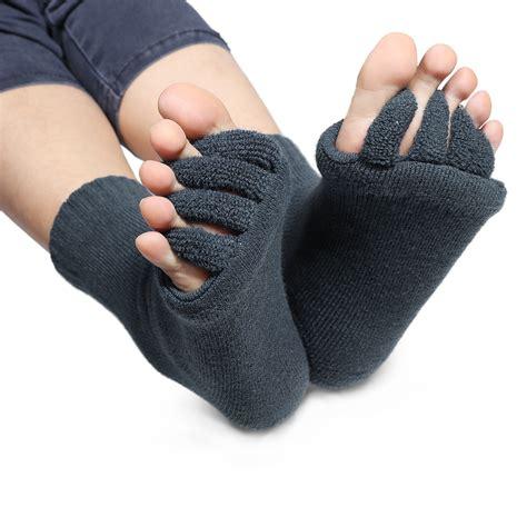 comfort toes gel toe socks yoga massage separate straighten cushion