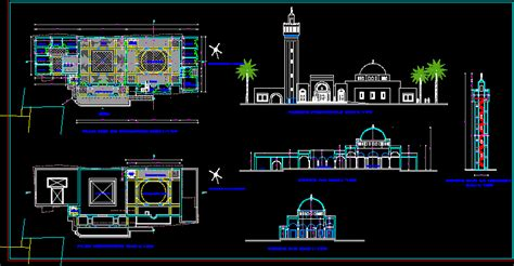 design masjid autocad mosque dwg plan for autocad designs cad