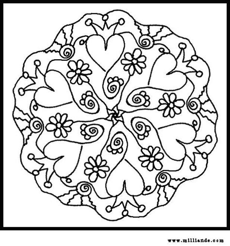 mandala coloring pages hearts free printable coloring pages for adults free printable