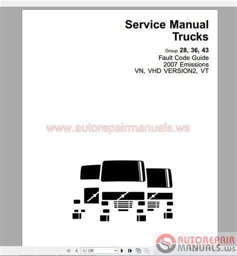 all volvo truck models volvo truck all models shop manual auto repair manual