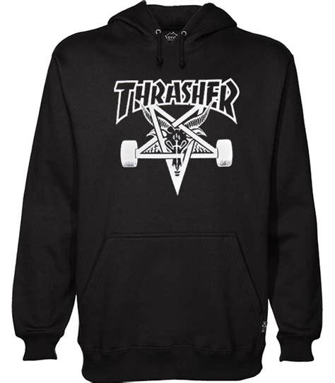 Hoodie Jumper Jaket Skate Thrasher Black thrasher skate goat hoodie