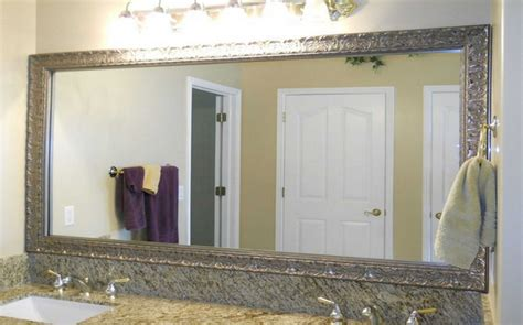 silver bathroom mirror rectangular mirror ideas