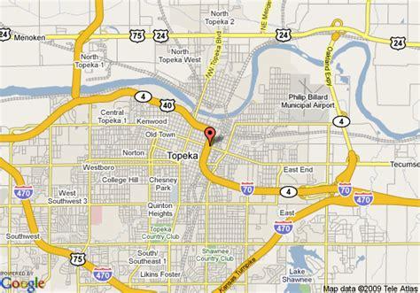 Topeka Court Records Map Of Topeka Kansas Usa Mapseta