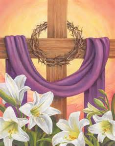 cross with purple drape in god s garden flag banner draped cross easter yard decor