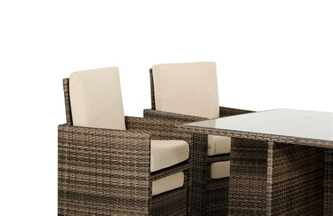 fold out armchair barcelona rectangular compact table w 6 fold out chairs and 6 individual ottoman