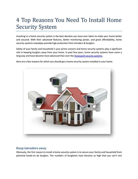 4 top reasons you need to install home security system by