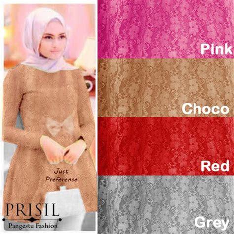 Gamis Brukat Dress Muslimah Baju Muslim Dress Panjang Terusan blouse pesta brokat tunik model gamis remaja